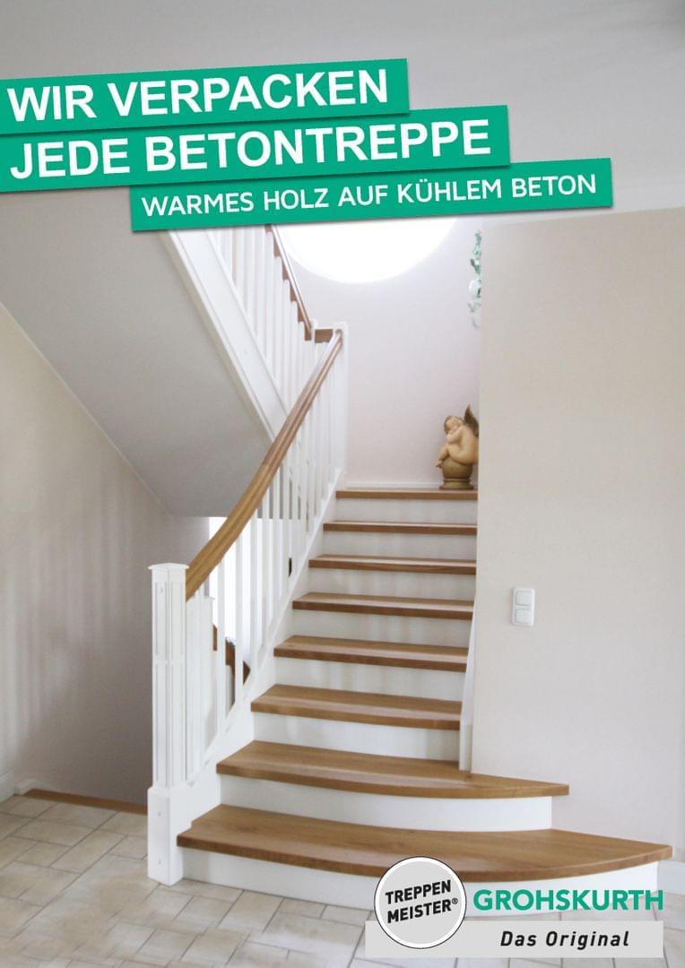 Holzstufen Auf Betontreppen Angelbachtal Treppenmeister